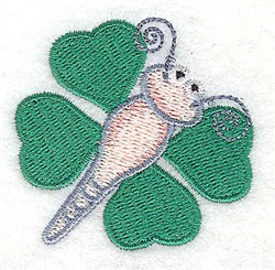 Shamrock Butterfly embroidery design