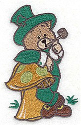 St. Patricks Bear embroidery design