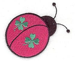 St. Patricks Ladybug embroidery design