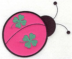 St. Patricks Ladybug Applique embroidery design