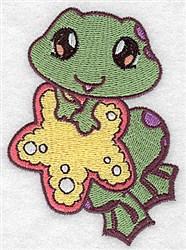 Frog Bath embroidery design