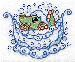 Bath Alligator embroidery design