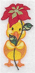 Duck With Flower embroidery design