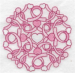 Ribbons Quilt Design embroidery design