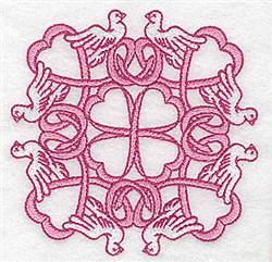 Dove Quilt Block embroidery design