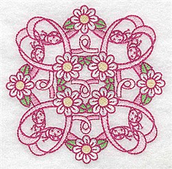 Daisy Quilt Desing embroidery design