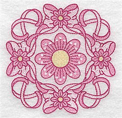 Bows & Flowers Design embroidery design