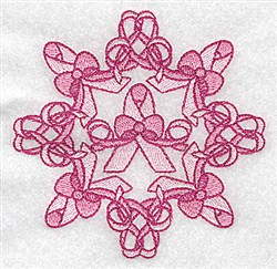 Breast Cancer Ribbons embroidery design