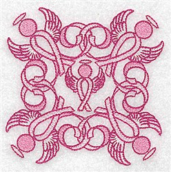 Ribbon Angels embroidery design