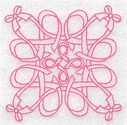 Ribbon Quilt Design embroidery design