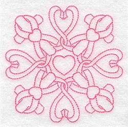 Hearts And Crosses embroidery design