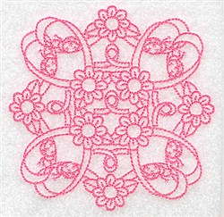 Ribbon Daisies embroidery design