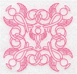 Angel Ribbons embroidery design