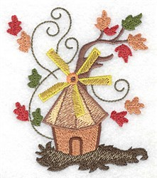 Autumn Windmill embroidery design
