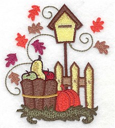 Autumn Birdhouse embroidery design