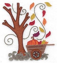 Pumpkin Wagon embroidery design