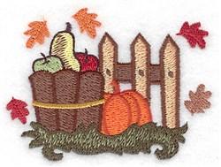 Harvest Bushel embroidery design