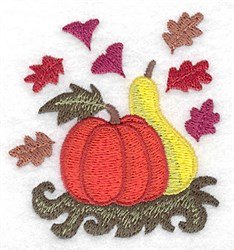 Pumpkin and Gourd embroidery design