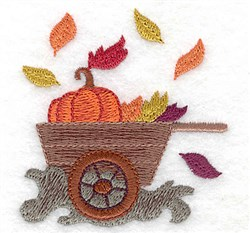 Pumpkin Wagon embroidery design