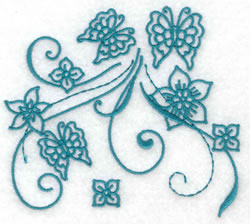 Butterfly Redwork embroidery design