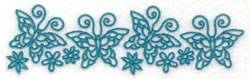 Row of Butterflies embroidery design