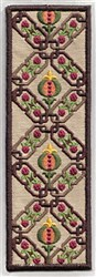 Bookmark 108 chainlinks with fruite embroidery design
