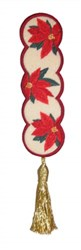 Bookmark 202 Poinsettas embroidery design
