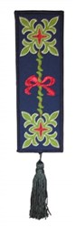 Bookmark 204 FleurDeLys and Ribbon embroidery design