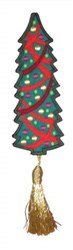 Bookmark 208 Christmas tree embroidery design