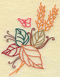 Wheat and Leaves embroidery design