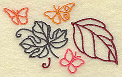 Leaves and Butterflies embroidery design