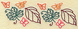 Butterflies and Leaves embroidery design