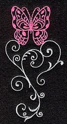 Butterfly Elegant Swirls embroidery design