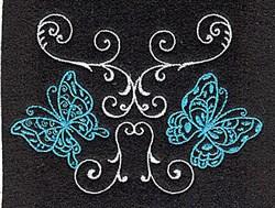 Butterflies Swirls embroidery design