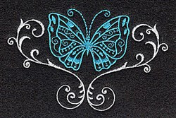 Butterfly Swirl embroidery design