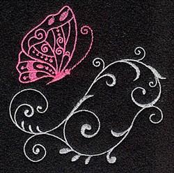 Butterfly Swirls embroidery design
