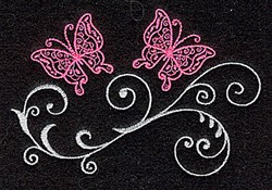 Elegant Butterflies embroidery design
