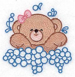 Baby Bear Splashing embroidery design