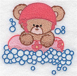 Baby Bear Rafting embroidery design