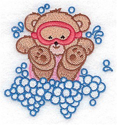 Bear In  Mask embroidery design