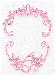 Monogram Baby Frame embroidery design