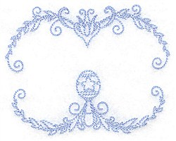 Frame With Rattle embroidery design