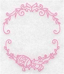 Rattle Monogram  Frame embroidery design