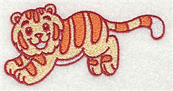 African Tiger embroidery design