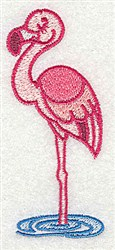 African Flamingo embroidery design
