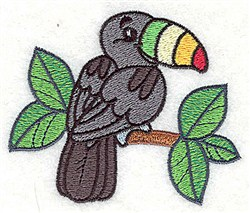 African Tucan embroidery design