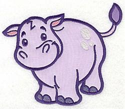 Hippopotamus Appliques embroidery design