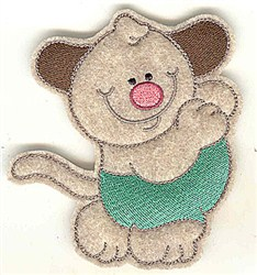 Feltie Dog embroidery design