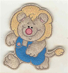 Feltie Lion embroidery design