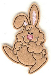 Feltie Bunny embroidery design